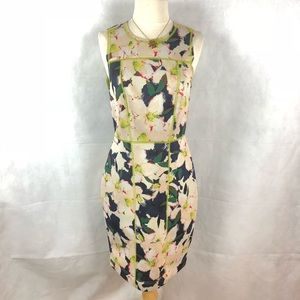 J. Crew Green Floral Cove Surf Dress